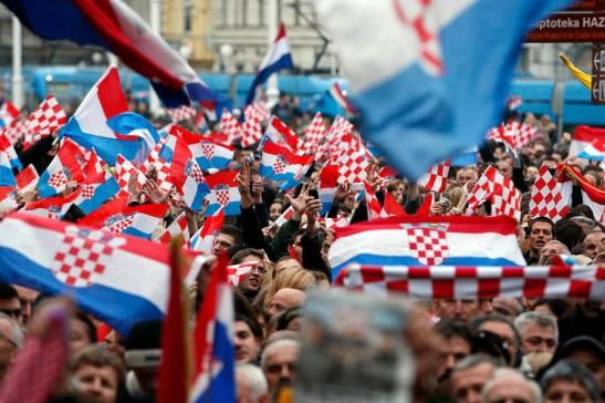 Zagreb, 16.11.2012 - Velicanstven docek oslobodjenih generala na Trgu bana Jelacica